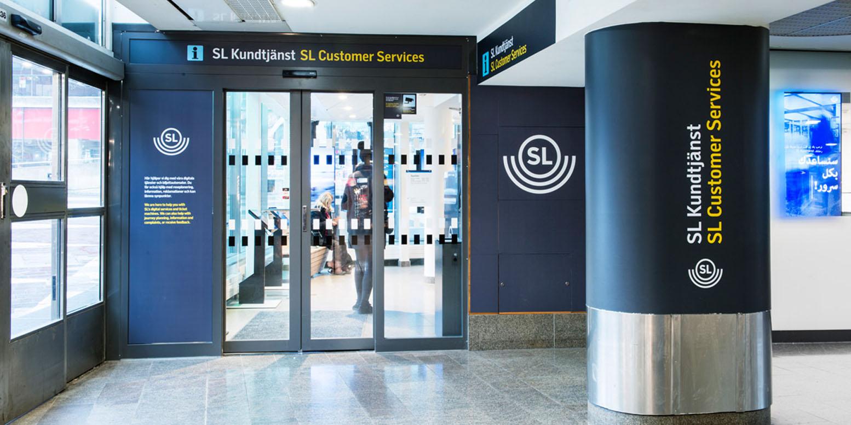 ingång till SL kundtjänst stockholm city